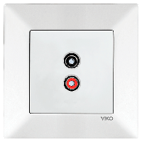 Аудиорозетка для динамиков VIKO Meridian Белый (90970137)