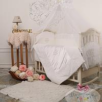 Карман на кроватку Версаль цвет белый
