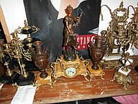 Старинные каминные часы с вазами!