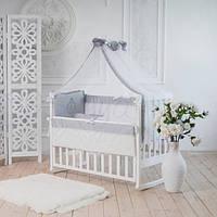 Сменный детский комплект постельного белья Family Kindom серый