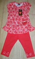 Комплект туника со штанами в розах