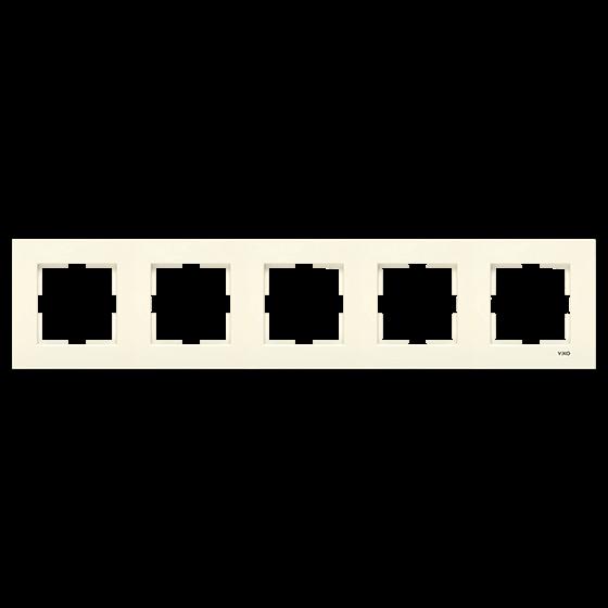 Пятерная горизонтальная рамка VIKO Karre Крем (90960234)