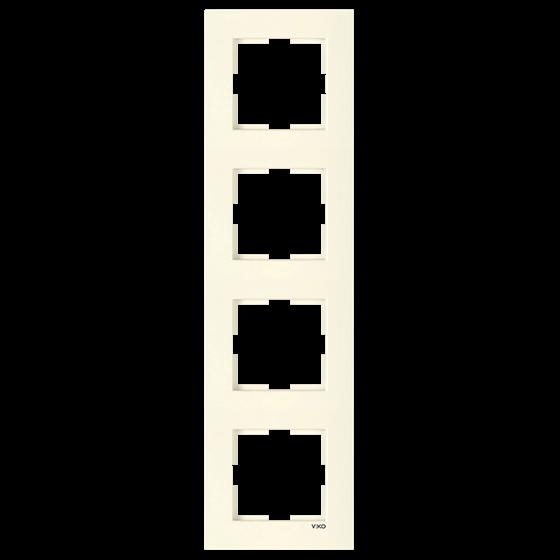Четверная вертикальная рамка VIKO Karre Крем (90960223)