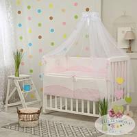 Сменный детский комплект постельного белья Tutti цвет розовый