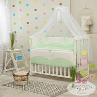 Сменный детский комплект постельного белья Tutti цвет зеленый