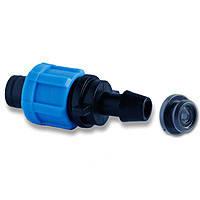 Фитинг-стартер с уплотнительной резинкой для капельной ленты Dn17 SantehPlast
