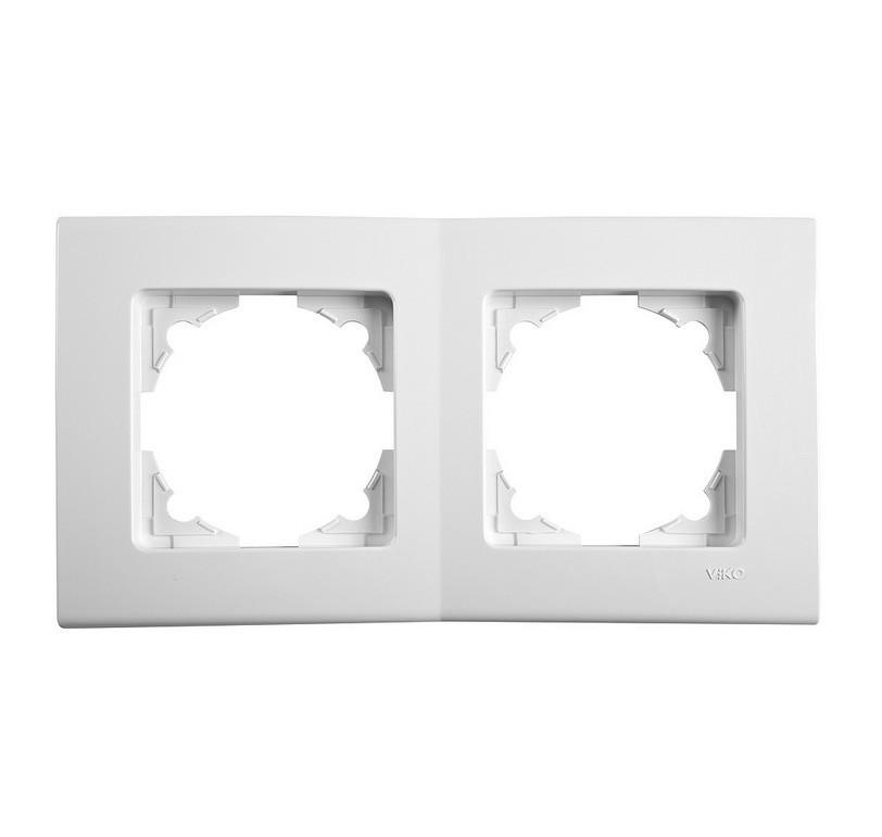 Двойная горизонтальная рамка VIKO Linnera Белая (90480002)
