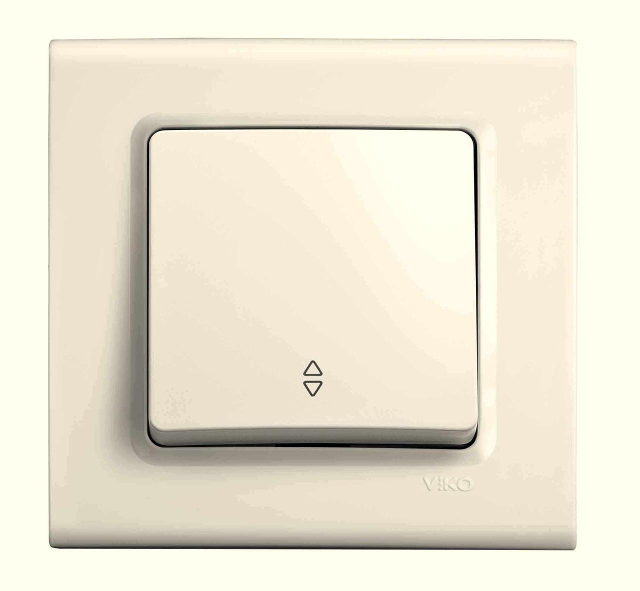 Выключатель проходной одноклавишный VIKO Linnera Крем (90401004)