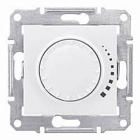 Светорегулятор (диммер) поворотно-нажимной проходной 60-500 Вт/ВА Schneider Electric Sedna Белый SDN2200521