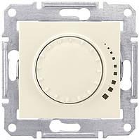 Светорегулятор (диммер) поворотно-нажимной проходной 60-500 Вт Schneider Electric Sedna Слоновая кость SDN2200523