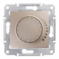 Светорегулятор (диммер) поворотный 25-500 Вт/ВА Schneider Electric Sedna Титан SDN2200468