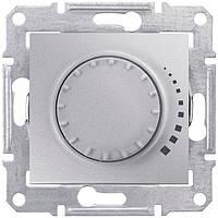 Светорегулятор (диммер) поворотно-нажимной проходной 60-500 Вт Schneider Electric Sedna Алюминий SDN2200560