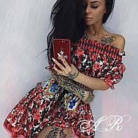 Платье (Фабричный Китай) точная копия D&G ткань сатин