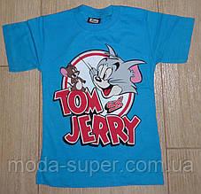 Футболка Том и Джери голубая