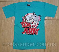 Футболка Том и Джери зеленая1