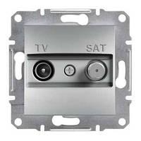 Розетка телевизионная + спутник конечная Schneider Electric Asfora Алюминий EPH3400161