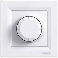 Светорегулятор (диммер) поворотный проходной 600 Вт Schneider Electric Asfora Белый EPH6400121