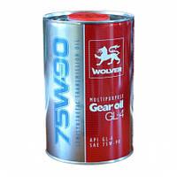 Трансмиссионное масло WOLVER MULTIPURPOSE gear 75w90 GL-4 1л