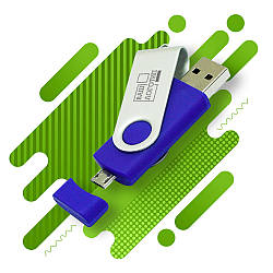 Флеш-память 16 Гб, 4 цвета, код 91281606