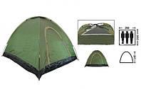 Палатка универсальная самораскладывающаяся 3-х местная Зеленый