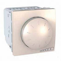 Светорегулятор (диммер) поворотно-нажимной 40-400Вт 2 модуля Schneider Electric Unica Слоновая кость MGU3.511.25