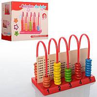 Деревянная игрушка Счёты-калькулятор