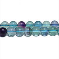 Флюорит, Натуральный камень, На нитях, бусины 8 мм, Круглые, Отверстие 1 мм, количество: 47-48 шт/нить
