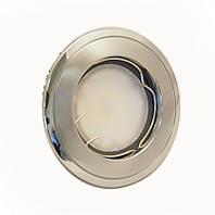 Светильник 50Вт врезной неповоротный HDL16002 хром матовый-хром, Delux