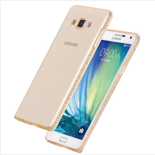 Чехол для Samsung Galaxy A7 A700 силиконовый со стразами