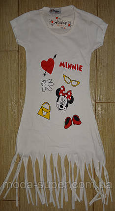 Платье-туника белое Мини-Маус, фото 2