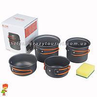 Набор туристической посуды 5 в 1 Milicamp AL-208