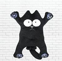 Детская мягкая игрушка,сувенир кот, черный