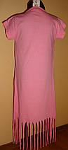 Платье-туника розовое Париж в сердечках, фото 2
