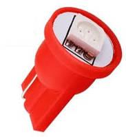 Светодиод T10-1LED-5050SMD-12V Красный цвет