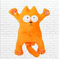 Детская мягкая игрушка,сувенир кот, оранжевый