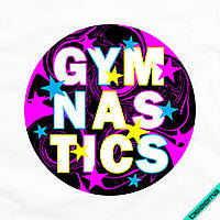 Аппликация, наклейка на ткань Gymnastics [7 размеров в ассортименте]