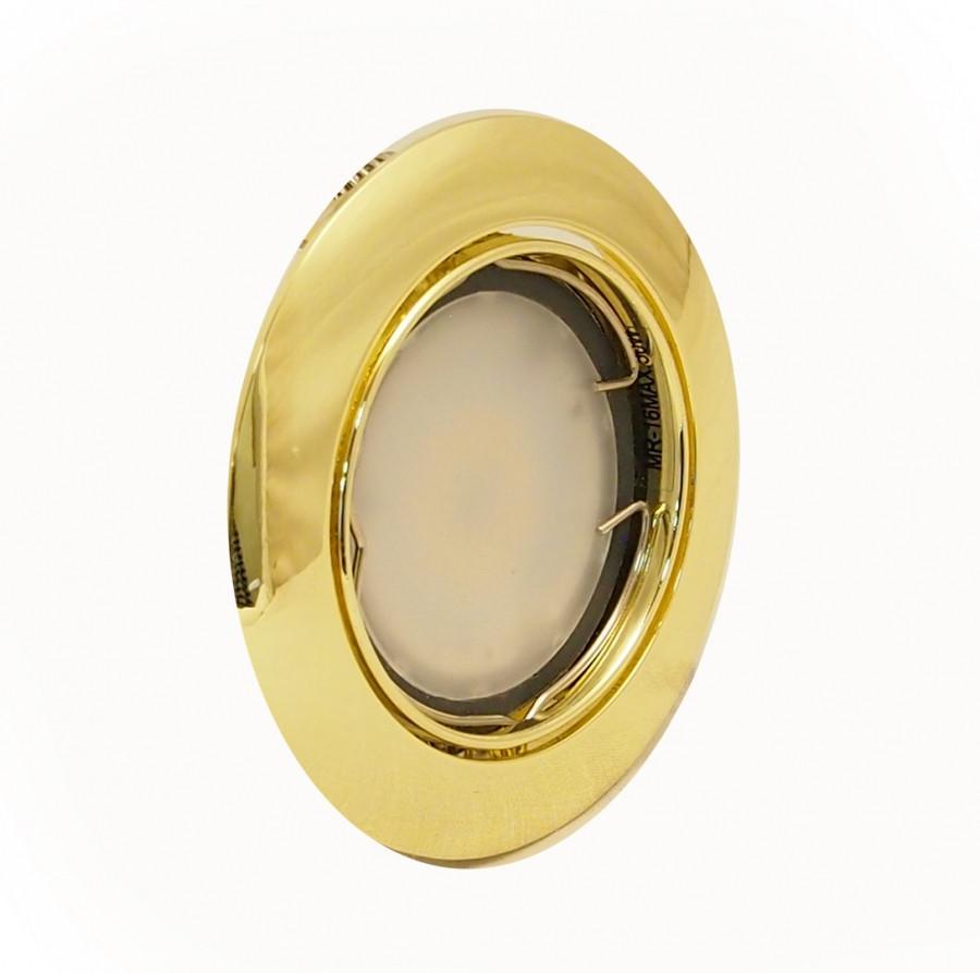 Светильник 50Вт MR16 G5.3 врезной поворотный HL160022R золото, Delux. АКЦИЯ НА ОСТАТОК!!!