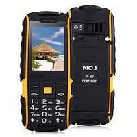 Защищенный мобильный телефон No.1 A9  2 сим, 2,4 дюйма,3 Мп, IP67,4800 мА/ч.