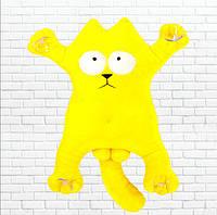 Детская мягкая игрушка,сувенир кот, желтый