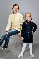 Детская вязанная кофта для девочек