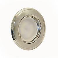 Светильник врезной, поворотный 50W HDL16002R хром матовый-хром, Delux