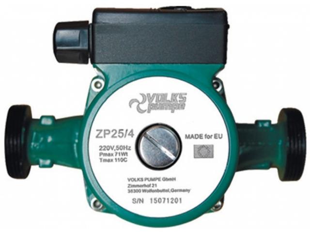 Циркуляционный насос для систем отопления VOLKS pumpe ZP25/4 130мм + гайки