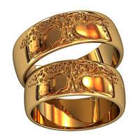 Обручальные кольца из золота (пара) арт. 801170