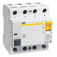 Дифференциальное реле (УЗО) IEK ВД1-63 4P 30mA 25А (MDV10-4-025-030)