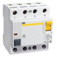 Дифференциальное реле (УЗО) IEK ВД1-63 4P 30mA 40А (MDV10-4-040-030)