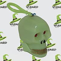 Череп трещотка светонакопительный (зеленый)