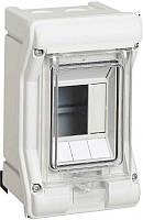 Щит пластиковый Hager VEKTOR на 3 модуля прозрачная дверца IP65 VЕ103D