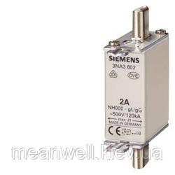 3NA3801  Плавкая вставка Siemens, класс gL/gG, AC 500 В/DC 250 B, 6 А , типоразмер 000