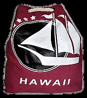Пляжная сумка - рюкзак из ткани