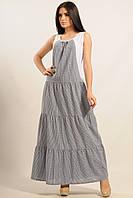 Летнее женское платье макси длины из хлопка